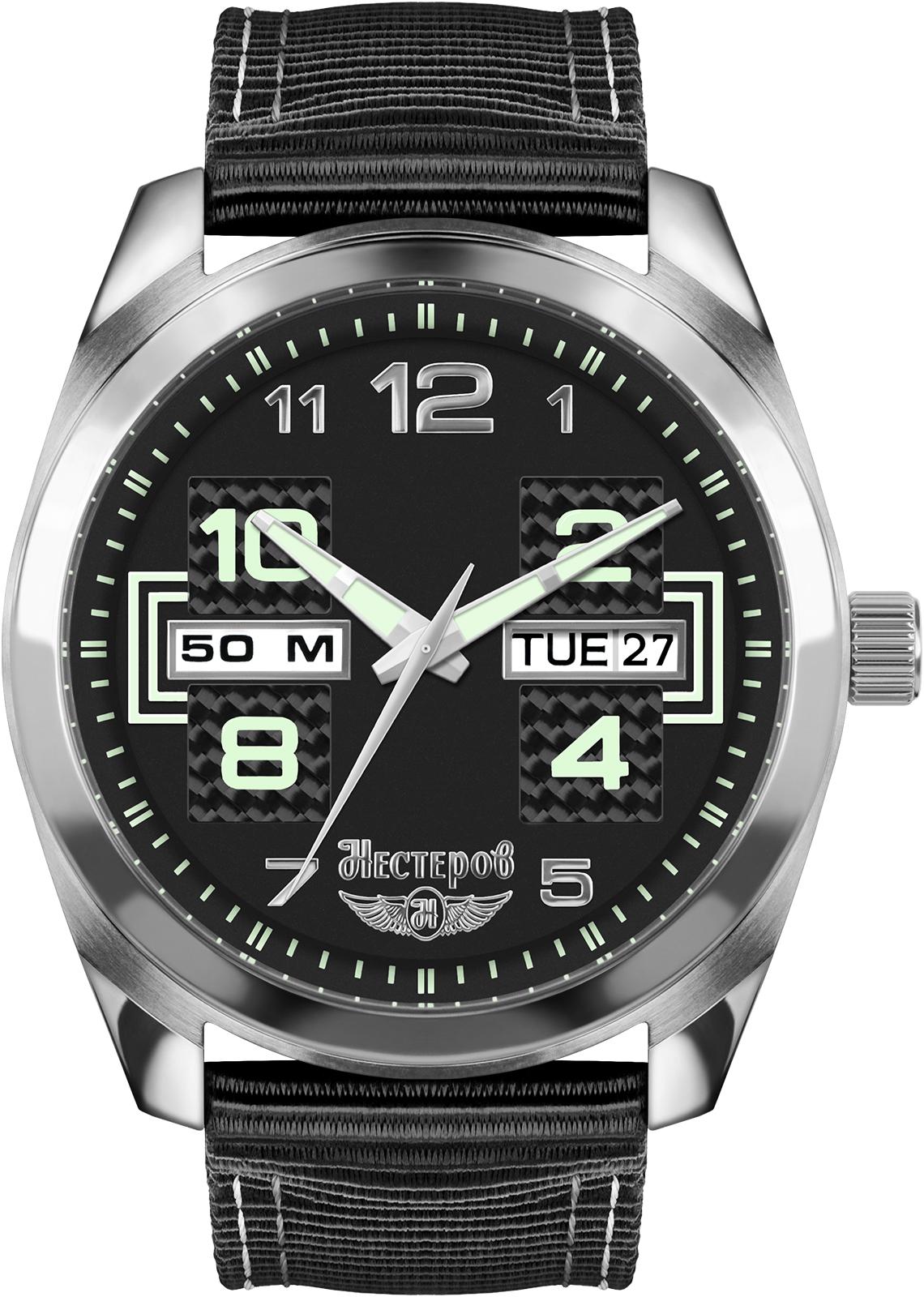 Часы Нестеров H1185A02-175E, черныйH1185A02-175EЧасы мужские наручные