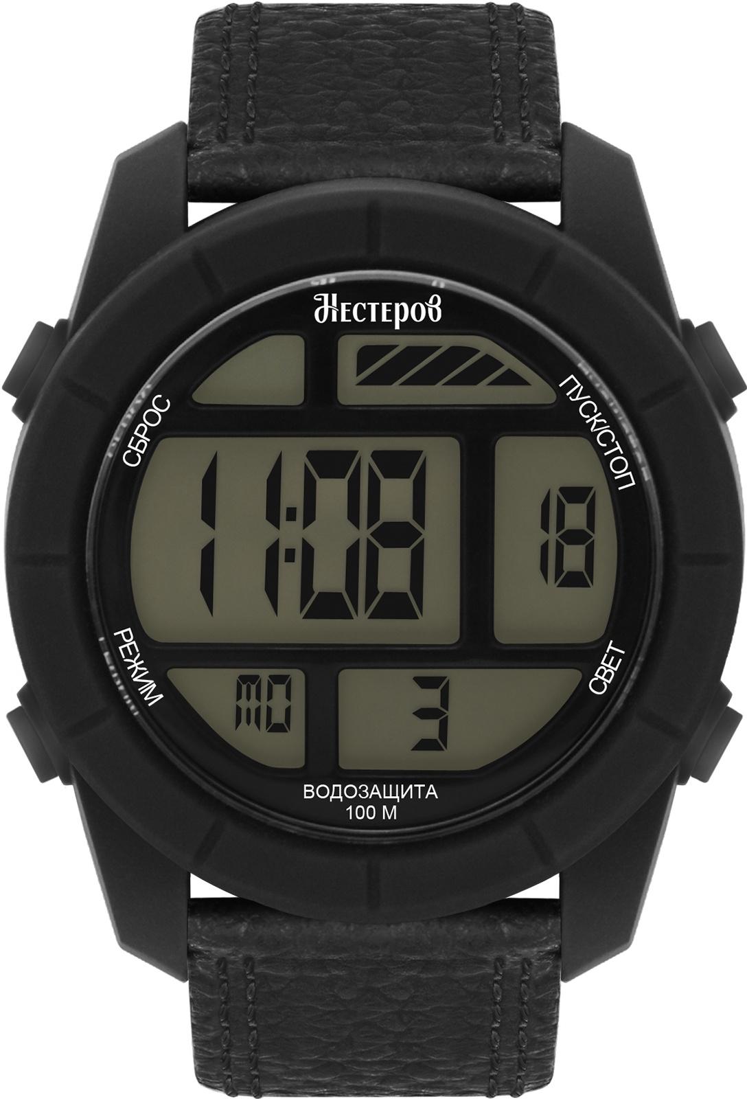 Часы Нестеров H2578A38-0E, черный все цены