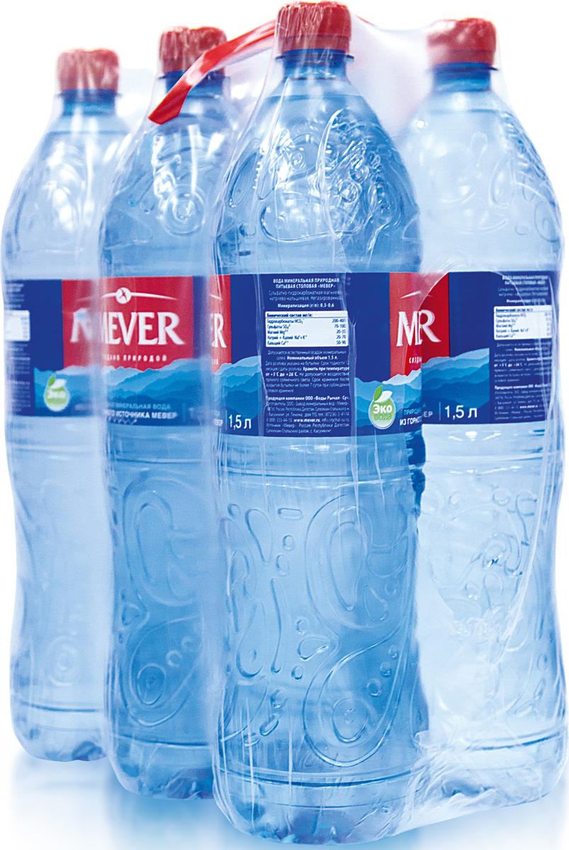 Вода питьевая Мевер негазированная, 6 шт по 1,5 л