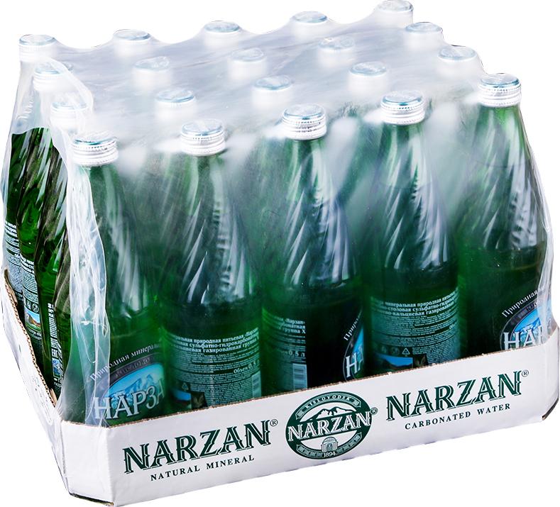 Вода минеральная Нарзан Серебряный Элита, 12 шт по 500 мл нарзан вода минеральная нарзан натуральной газации 1 л