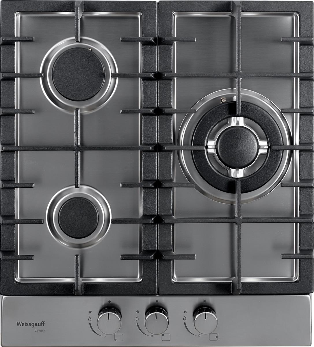 Варочная панель Weissgauff HGG 451 ХFh, светло-серый цена