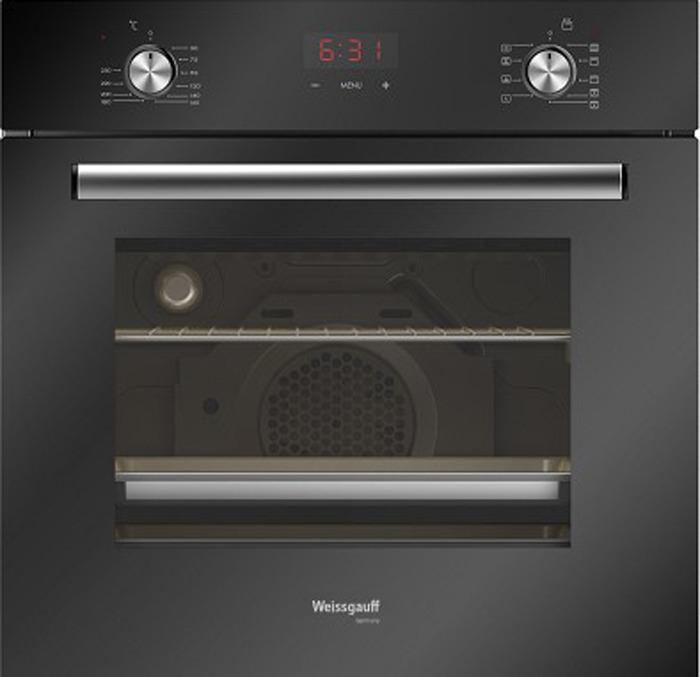 Духовой шкаф Weissgauff EOV 29 PDB, черный weissgauff eom 28 pdx