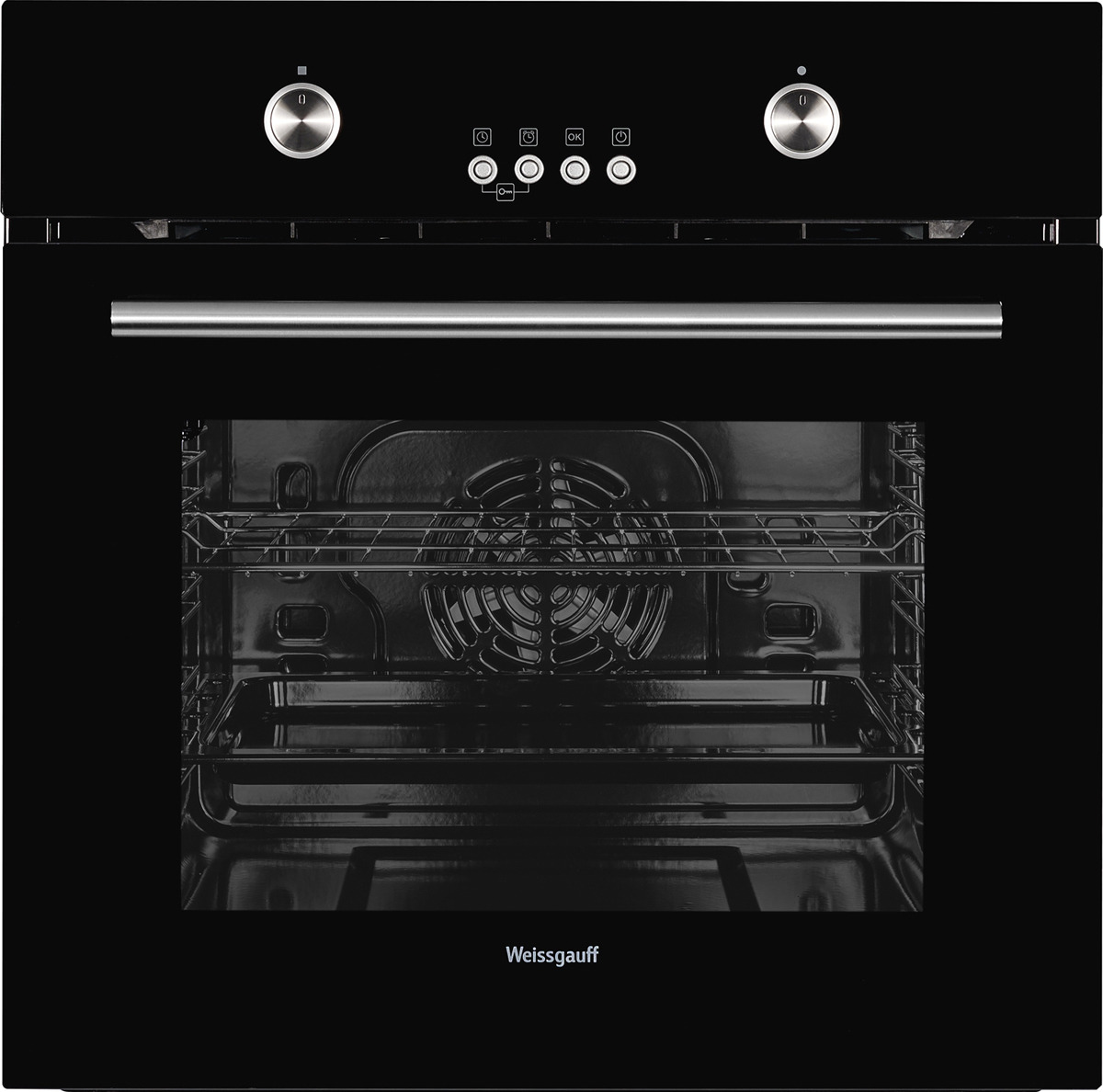 Духовой шкаф Weissgauff EOV 28 PDB, черный weissgauff eom 28 pdx
