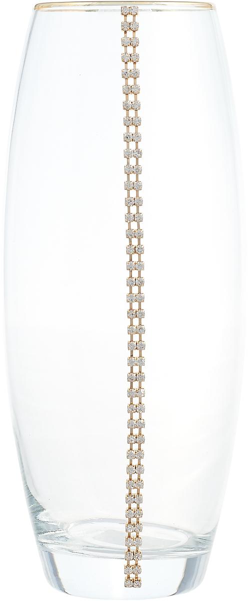Ваза Lefard, 802-138440, прозрачный, высота 26 см ваза arti m 882 058 золотой высота 18 см