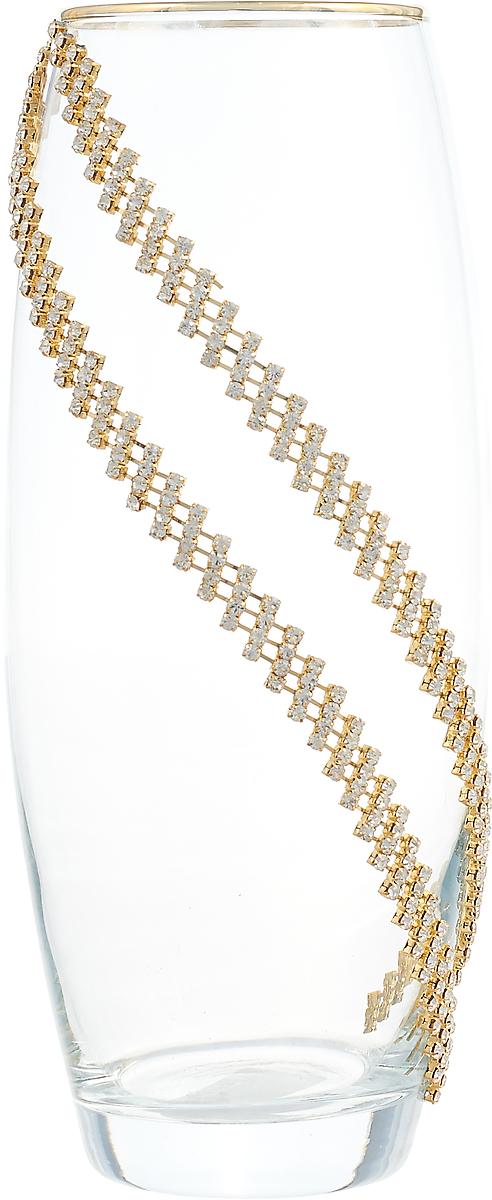 Ваза Lefard, 802-138451, прозрачный, высота 26 см ваза arti m 882 058 золотой высота 18 см