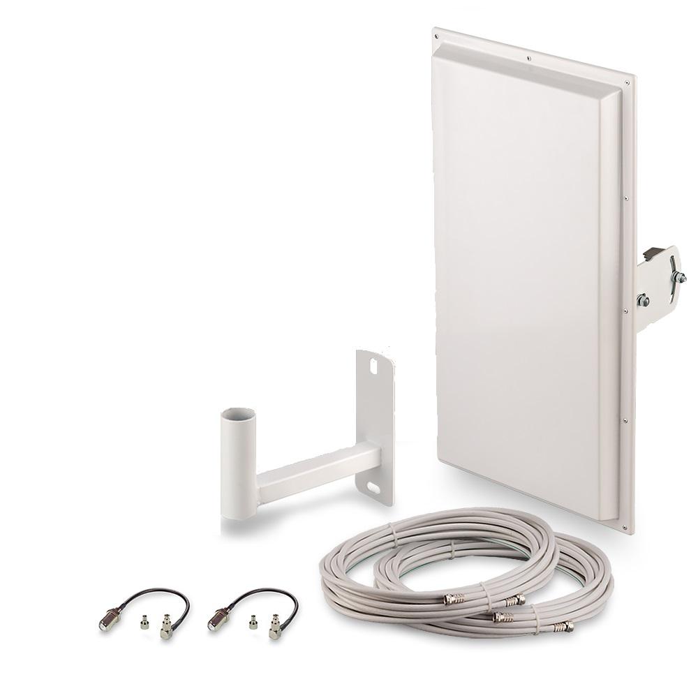 Антенна для сотового сигнала ZDK Комплект для усиления 3G/4G сигнала Signal 4G-14 MIMO, белый ZDK