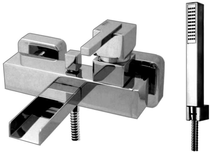 Смеситель для ванны с душевым набором Fiore XS, 71CR7755 смеситель на ванну olive s girona 01201gr