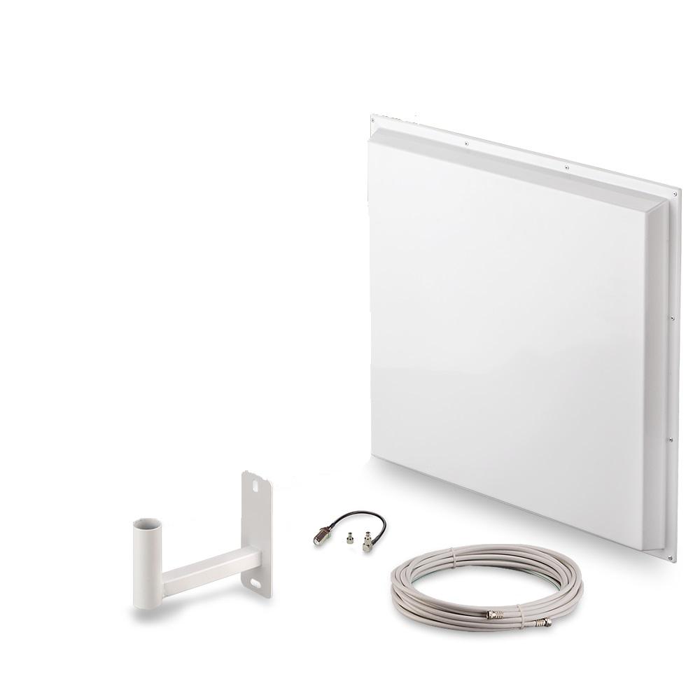 Антенна для сотового сигнала ZDK Комплект для усиления 3G/4G сигнала Signal 4G-14, белый ZDK