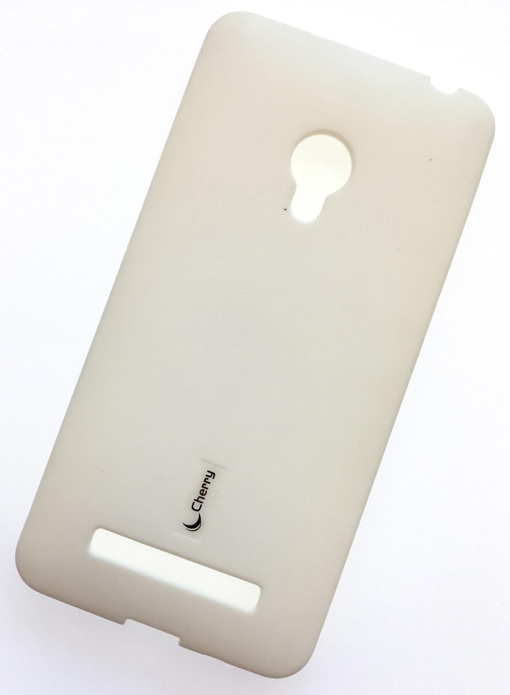 цена на Чехол для сотового телефона Cherry Asus Zenfone 5/A500KL Накладка резиновая с пленкой на экран, белый