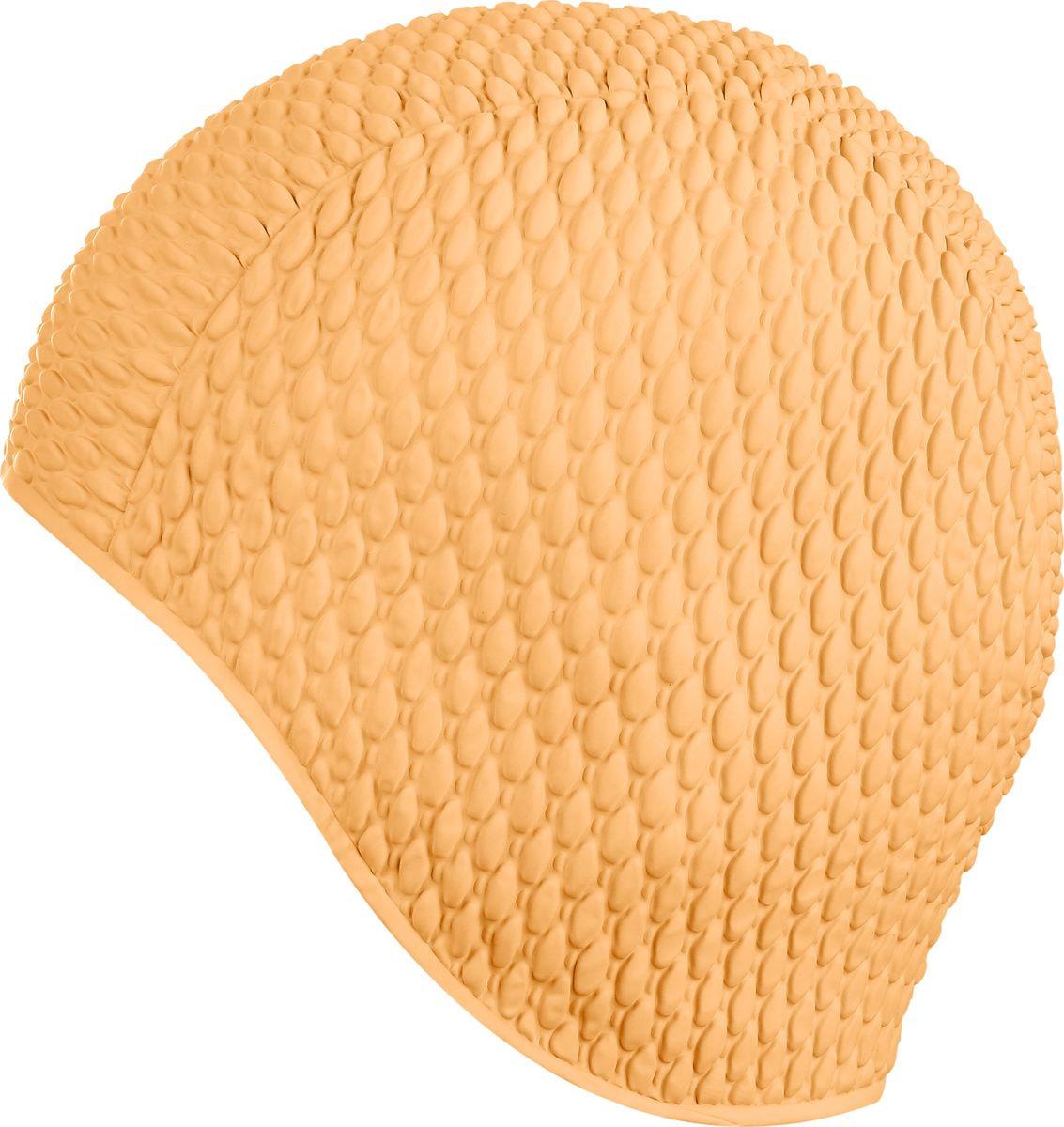 Шапочка для плавания Indigo Bubble, IN079, персиковый шапочка для плавания indigo silicone 3d форма цвет белый
