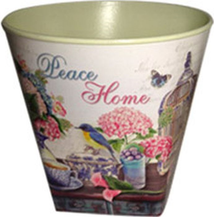 Кашпо декоративное Village People Цветы, диаметр 15 см цены онлайн