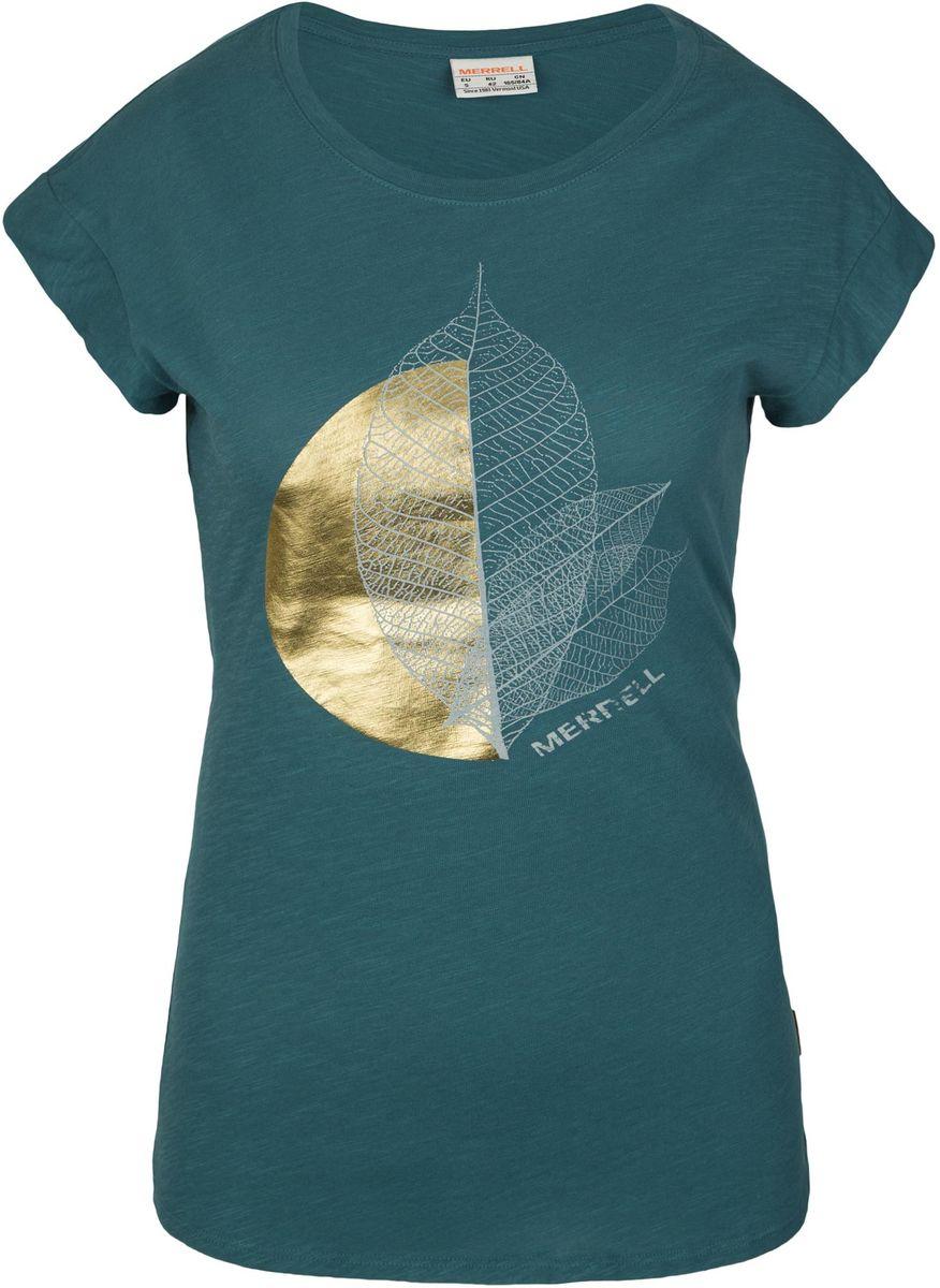 Футболка Merrell100146-N3Удобная и практичная футболка Merrell с крупной графикой на груди. Ткань выполнена из натурального хлопка и приятна к телу. Продуманный крой позволяет двигаться естественно.