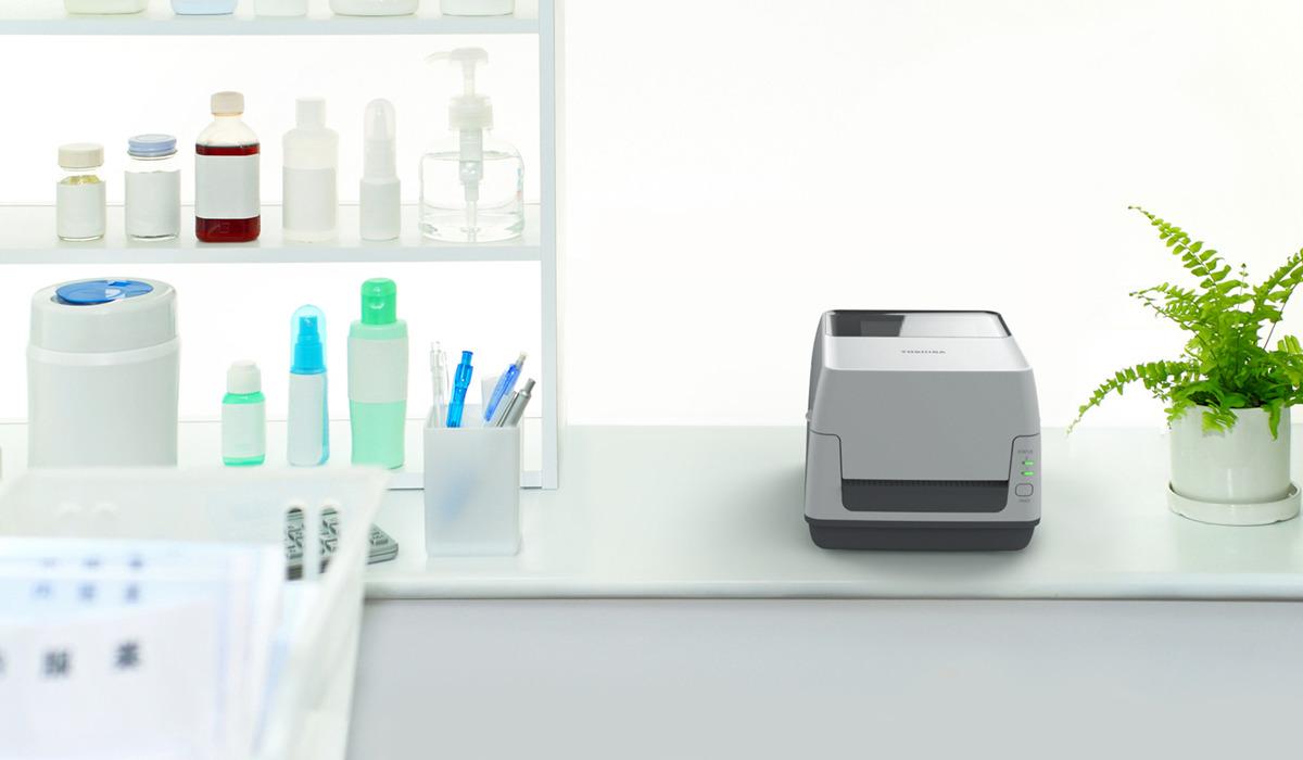Принтер этикеток Toshiba B-FV4T-TS14-QM-R, белый Toshiba