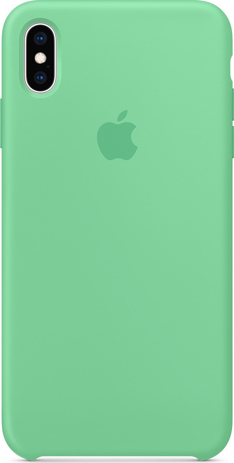 Чехол для сотового телефона Apple Silicone Case для iPhone XS Max, spearmint чехол книжка guess charms для apple iphone xs max серый
