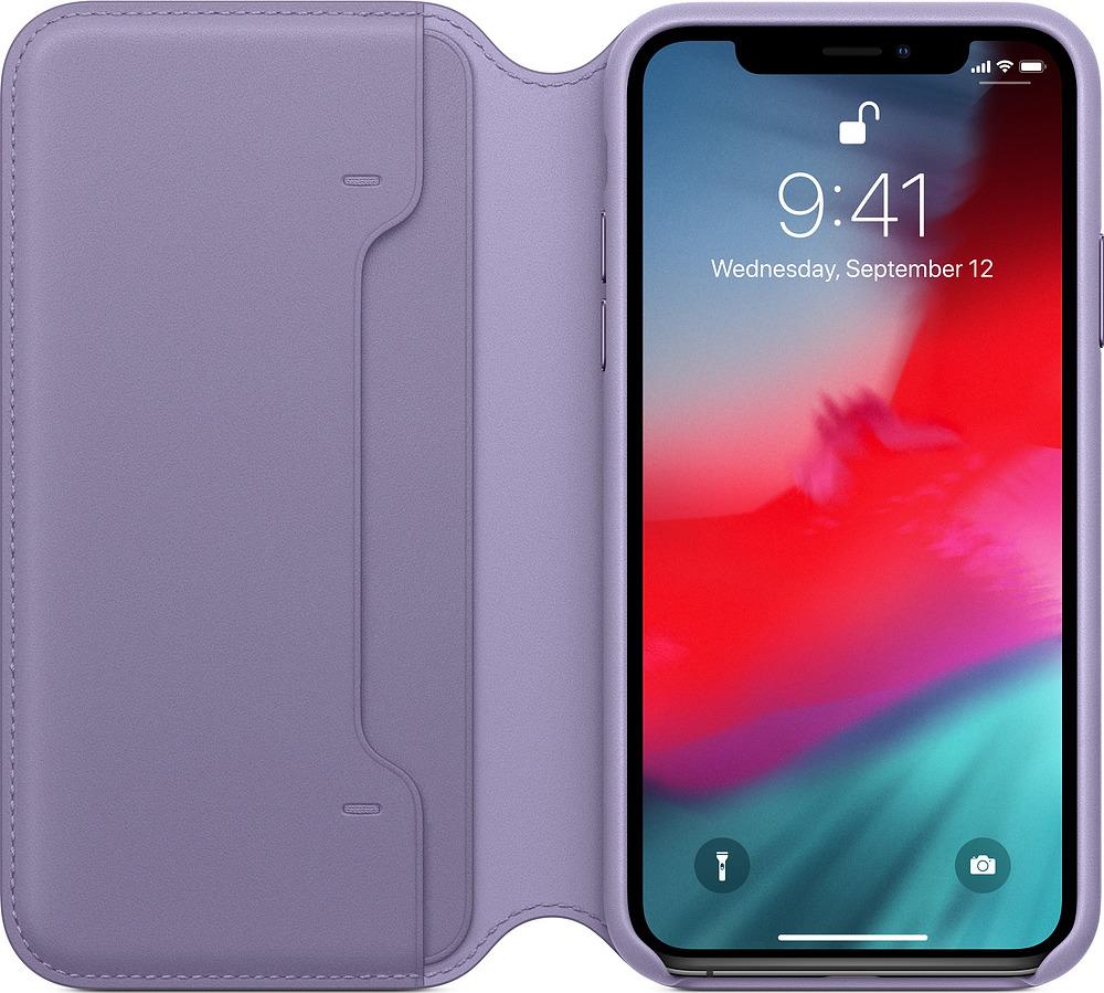 Чехол для сотового телефона Apple Leather Folio для iPhone XS, lilac чехол для apple iphone xs max leather case lilac