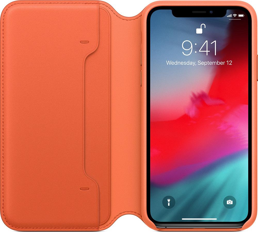 Чехол для сотового телефона Apple Leather Folio для iPhone XS, sunset цена в Москве и Питере
