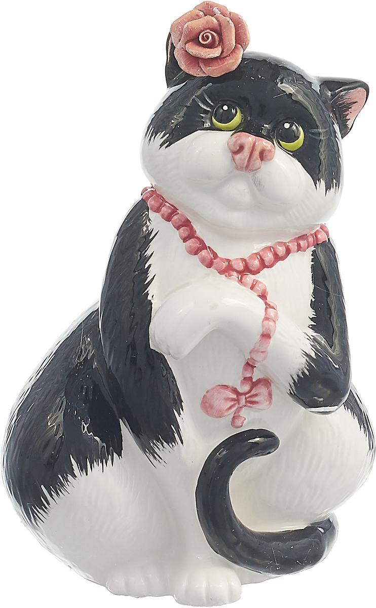Фигурка декоративная Lefard Кошка, 59-235, белый, высота 16 см
