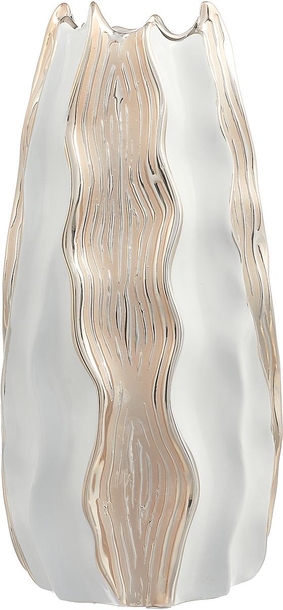 Ваза Lefard Золотая Коллекция, 699-197, золотистый, 16 х 34 см