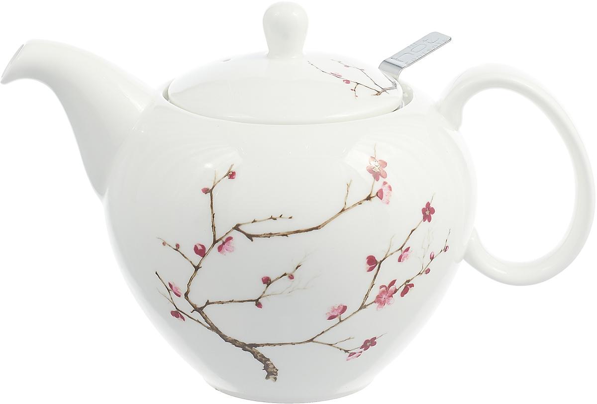 Чайник заварочный Gutenberg Цветущая сакура, 009906, разноцветный, 1 л чайник яблоки 1 л