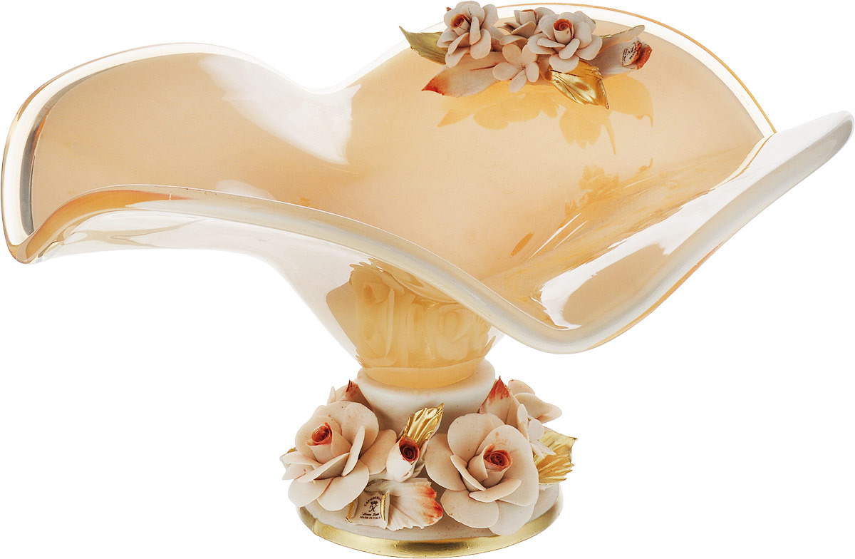 Декоративная чаша Lefard, 647-500, бежевый, 38 х 36 х 20 см декоративная чаша lefard 647 645 зеленый 25 х 14 см