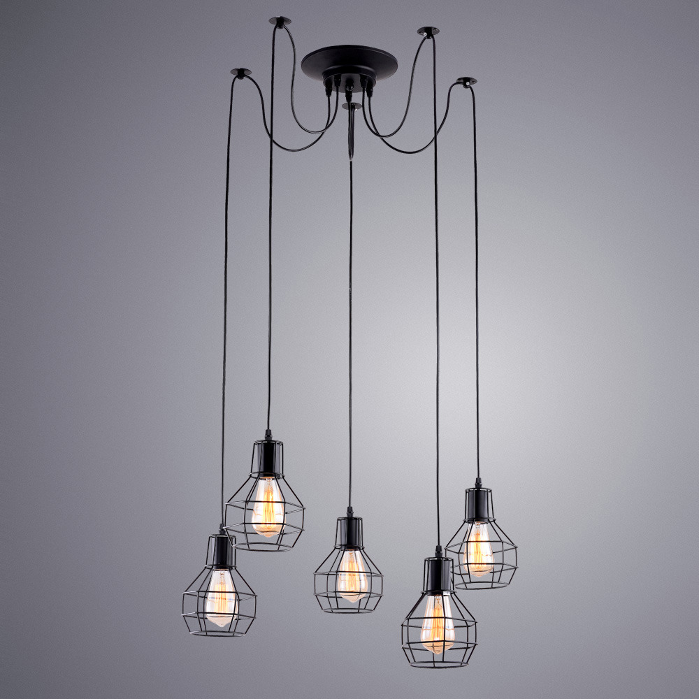 Подвесной светильник Arte Lamp Spider, A1109SP-5BK, черный