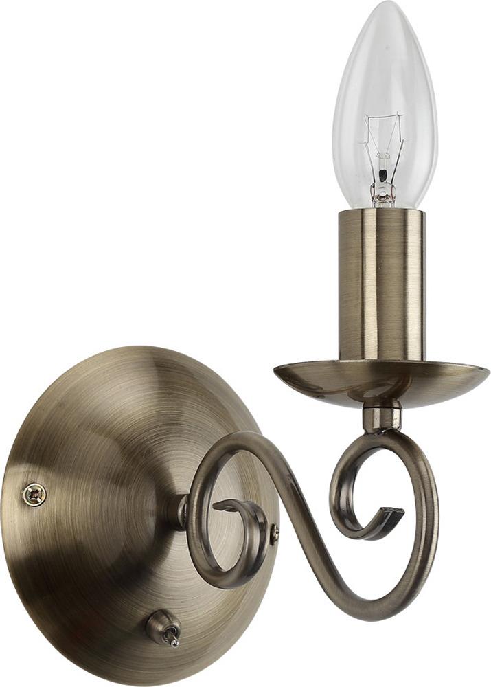 Настенный светильник Arte Lamp Isabel, A1129AP-1AB, бронза
