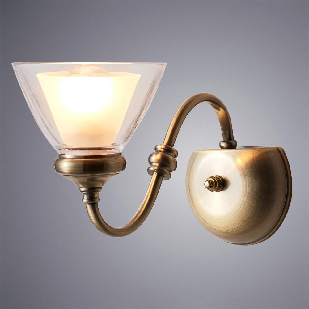 Настенный светильник Arte Lamp Toscana, A5184AP-1AB, бронза