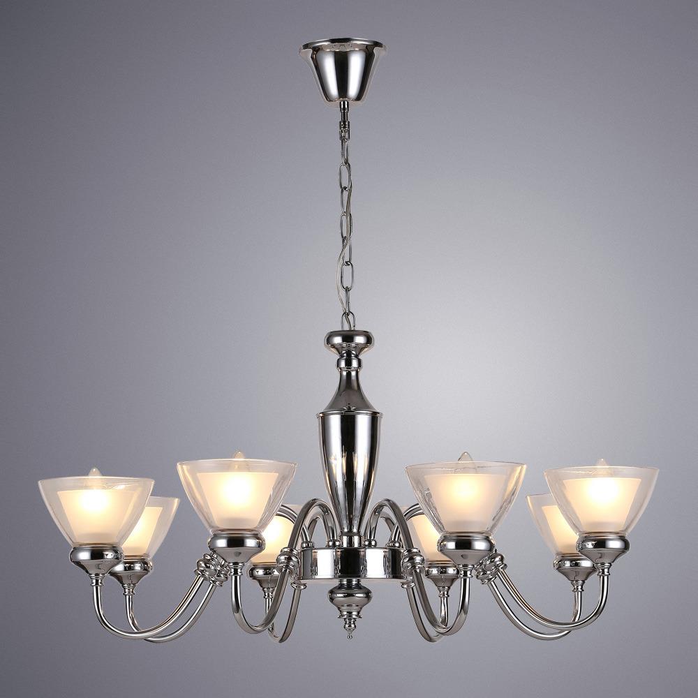 Подвесной светильник Arte Lamp Toscana, A5184LM-8CC, серый металликA5184LM-8CCПодвесной светильник итальянской компании Arte Lamp, выполнен в оригинальном стиле. Светильник представлен в коллекции Elvin. Основной материал светильника - Стекло. Типом крепления осветительного прибора является Подвесное. Предусмотрено использование ламп типа Лампа Светодиодная, с цоколем E14. Количество ламп - 1. Мощность ламп - до 5 Ватт. Конструкция и степень пылевлагозащищенности прибора позволяют использование в жилых помещениях.