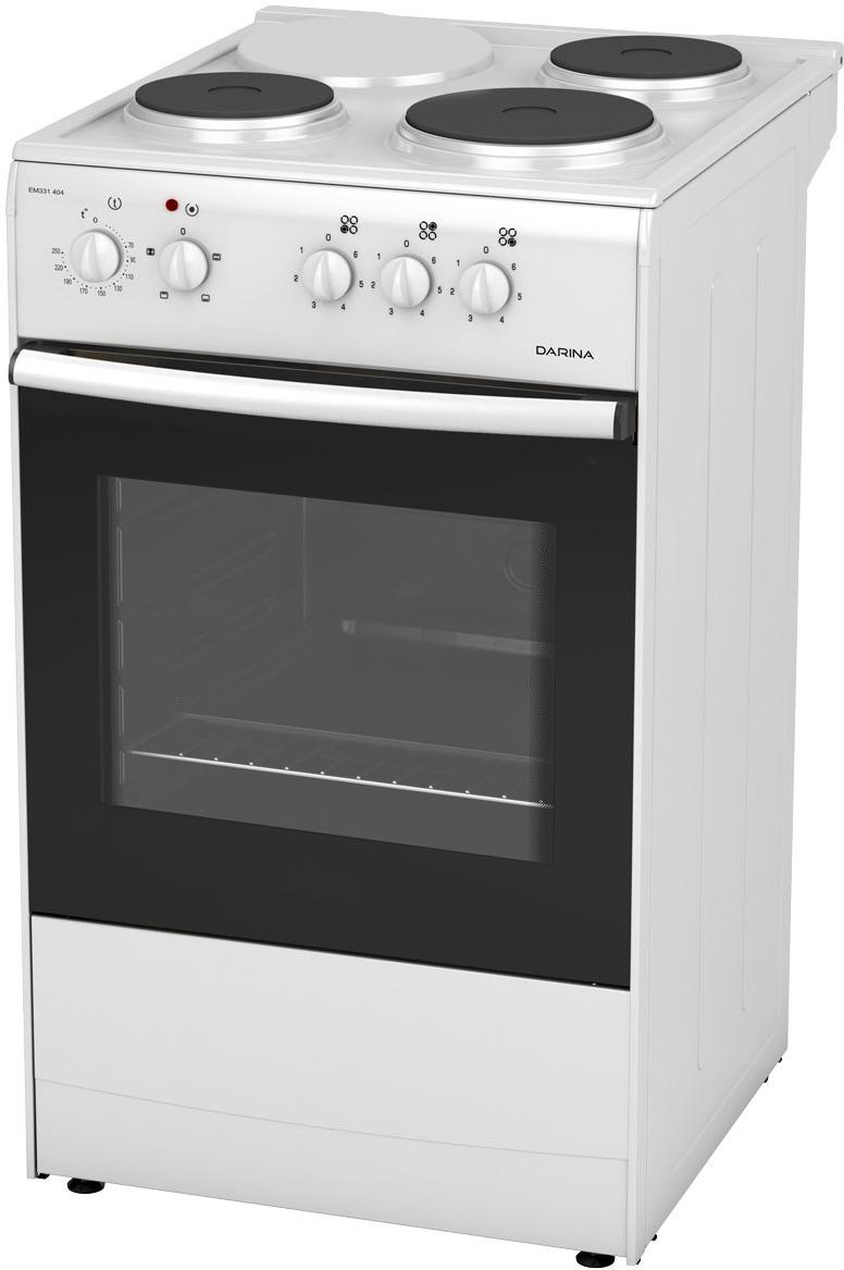 Плита Darina S EM 331 404 W, White, электрическая darina s em341 404 w плита электрическая