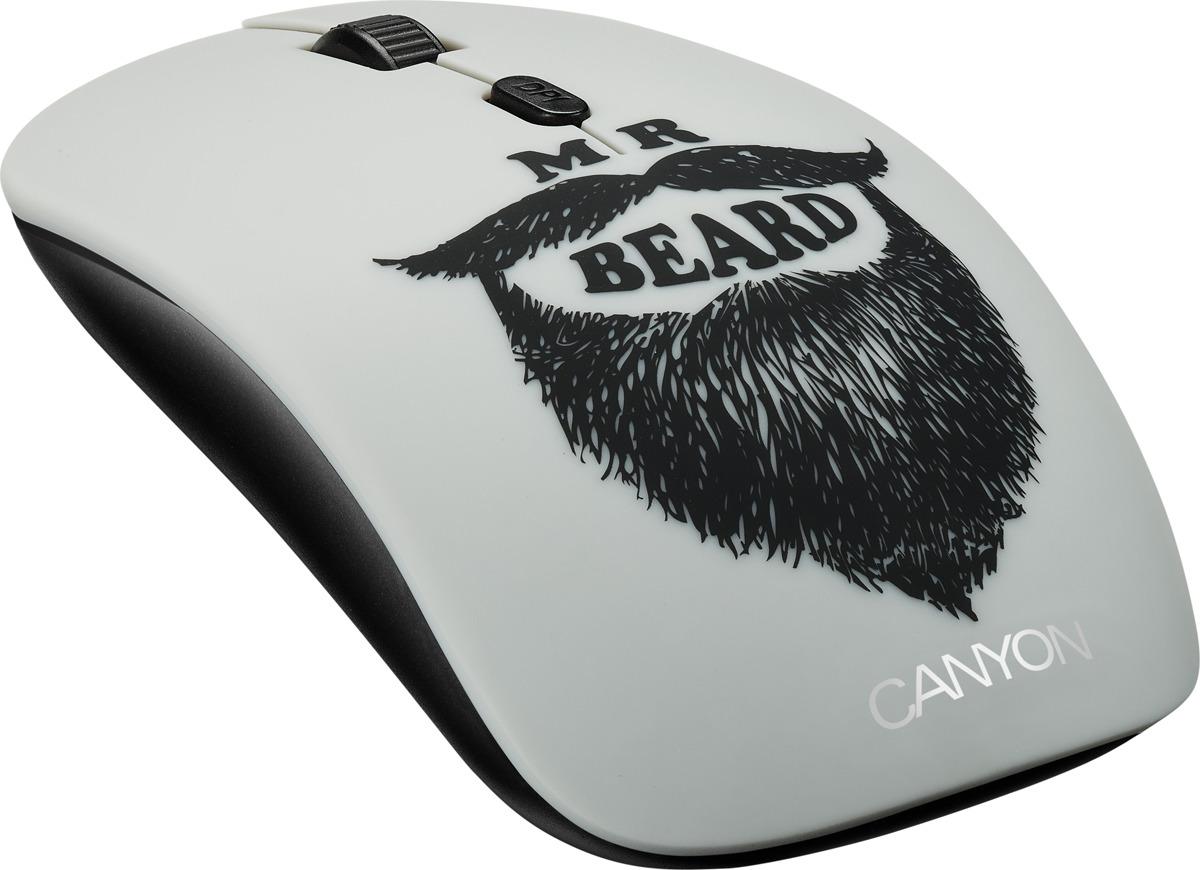 Мышь беспроводная Canyon Beard CND-CMSW401BD, черная