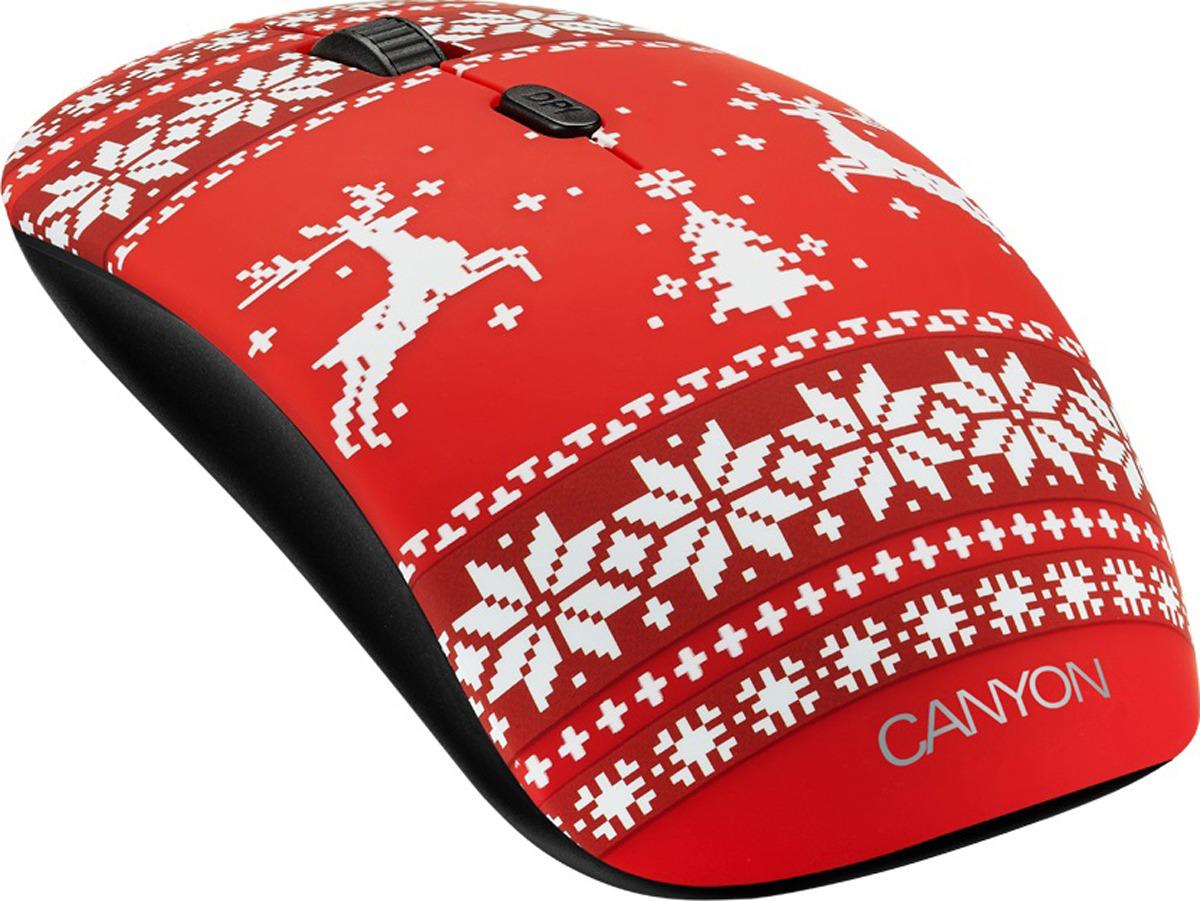 Мышь беспроводная Canyon Jersey Red CND-CMSW401JR, черная