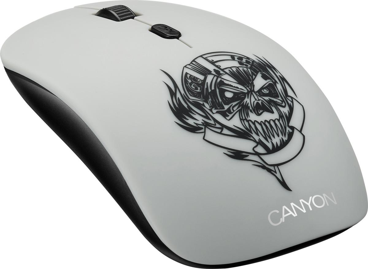 Мышь беспроводная Canyon Metallica CND-CMSW401MC, черная