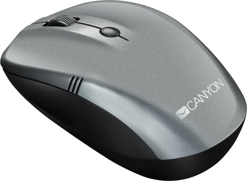 Мышь беспроводная Canyon CNE-CMSW03DG, темно-серая