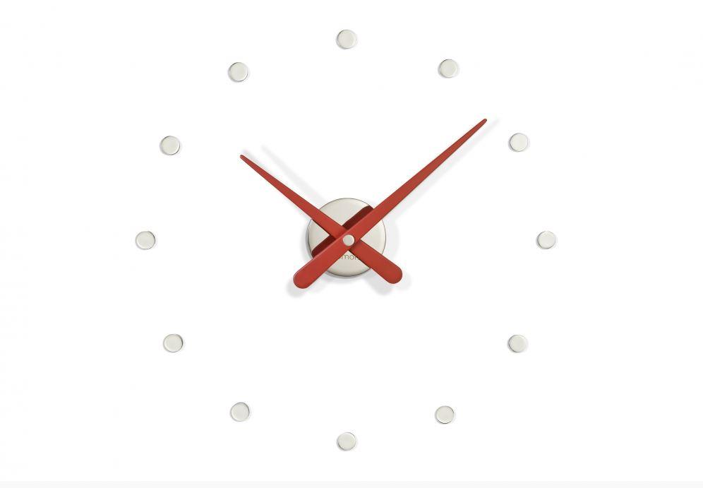 Настенные часы Nomon Часы RODON MINI L RED, серебристый, красный все цены