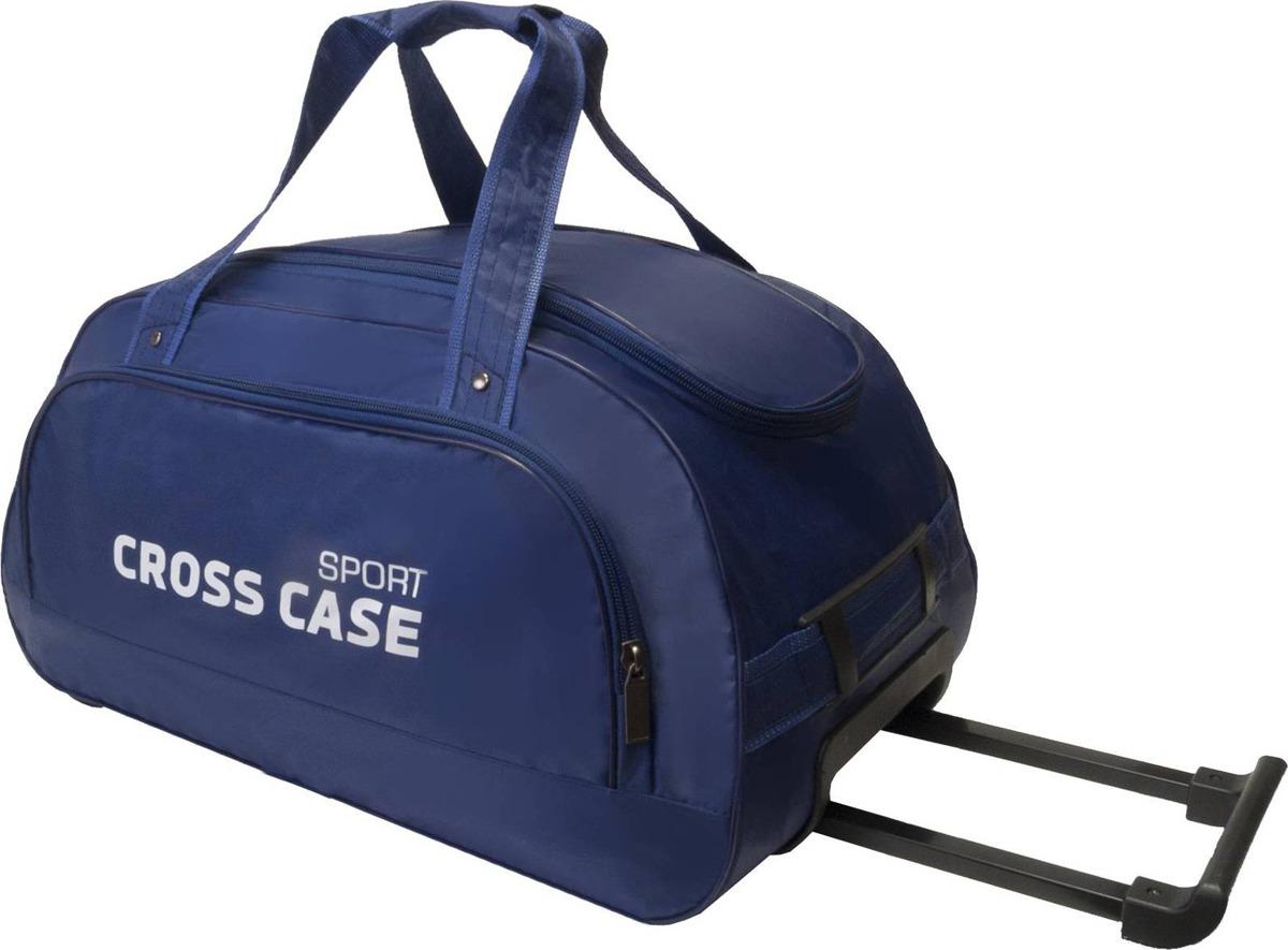 cdecf8dd Сумка дорожная на колесах Cross Case имеет одно внутреннее отделение,  наружный карман на молнии 38х14 см. Выдвижная ручка 34 см. Высота ручек 20  см.