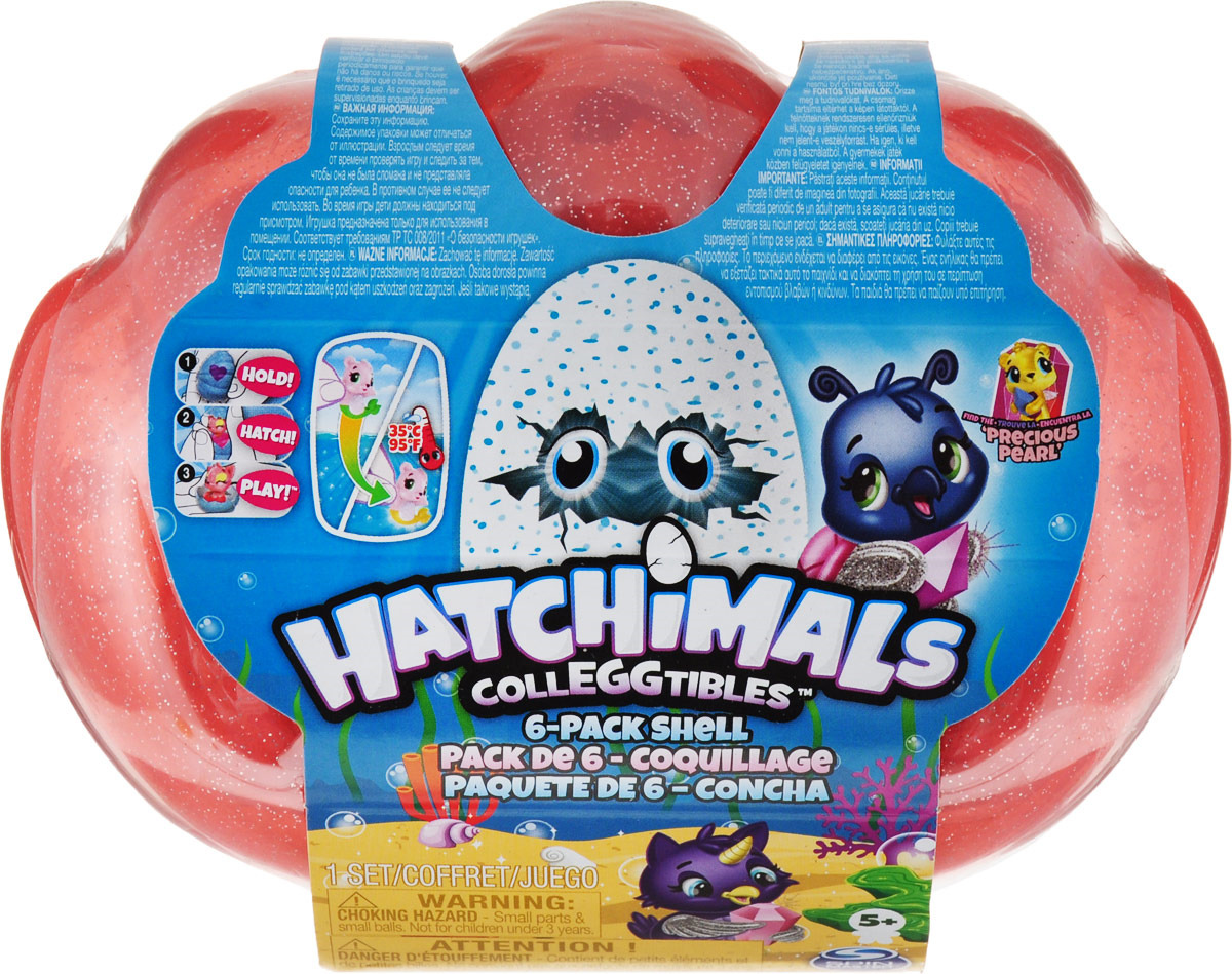 Фигурка Hatchimals Hatchimals Colleggtibles Ракушка, 6046155, красная фигурка hatchimals hatchimals colleggtibles водная мини горка 6045503