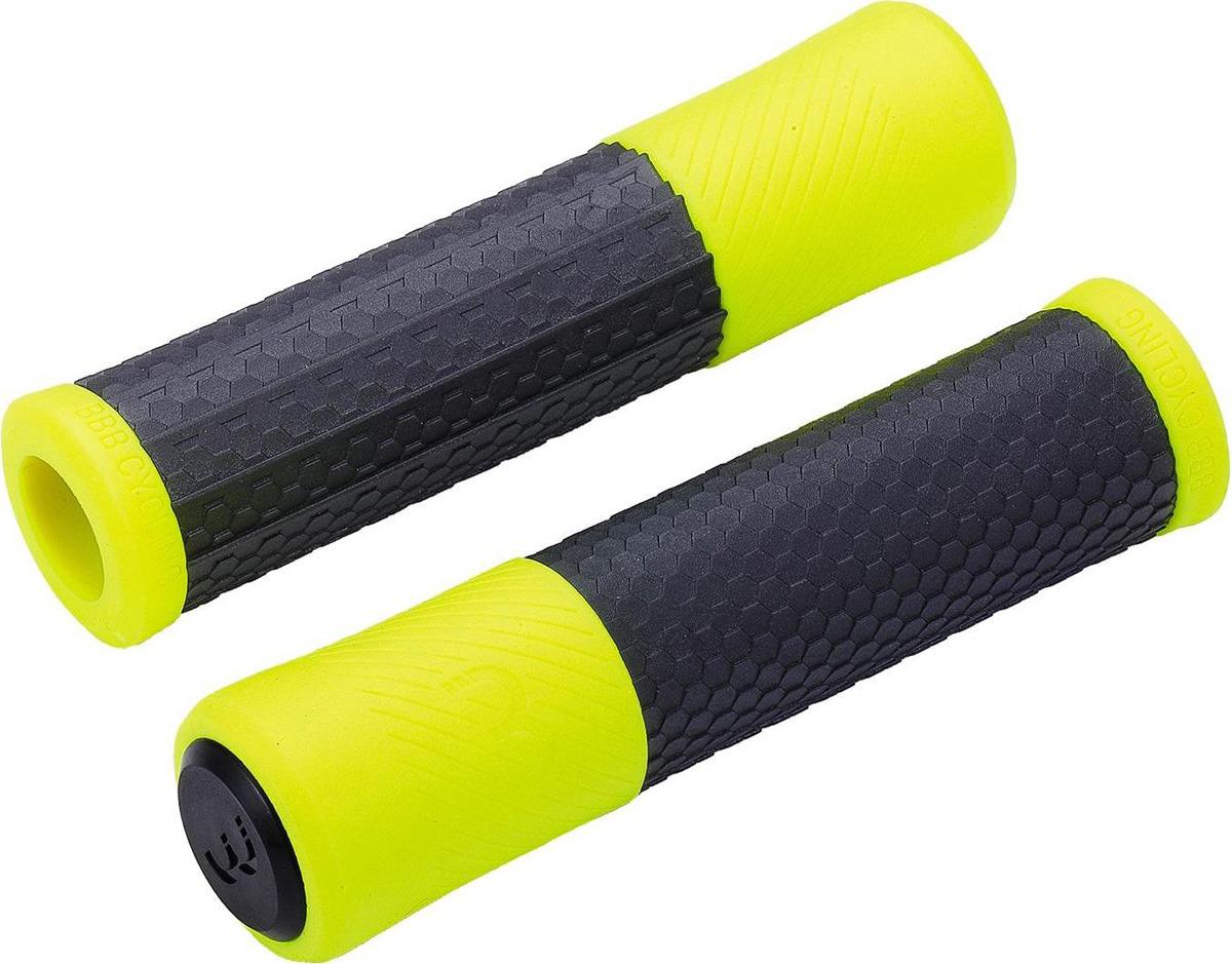 Грипсы BBB Viper, черный, желтый, 130 мм