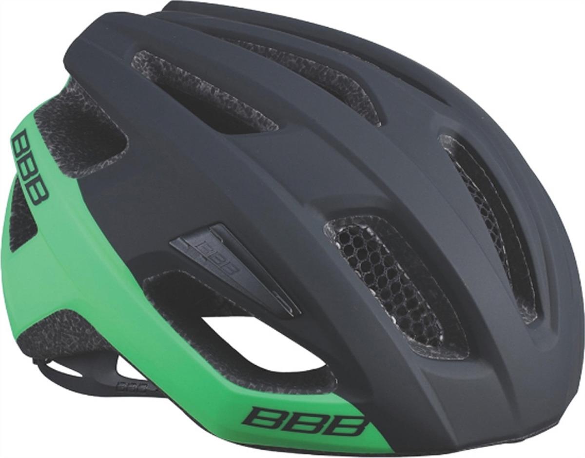 Велошлем BBB Kite, черный, зеленый. Размер L велошлем bbb 2015 14 отверстий helmet hawk бело черный us m 55 58 см bhe 27
