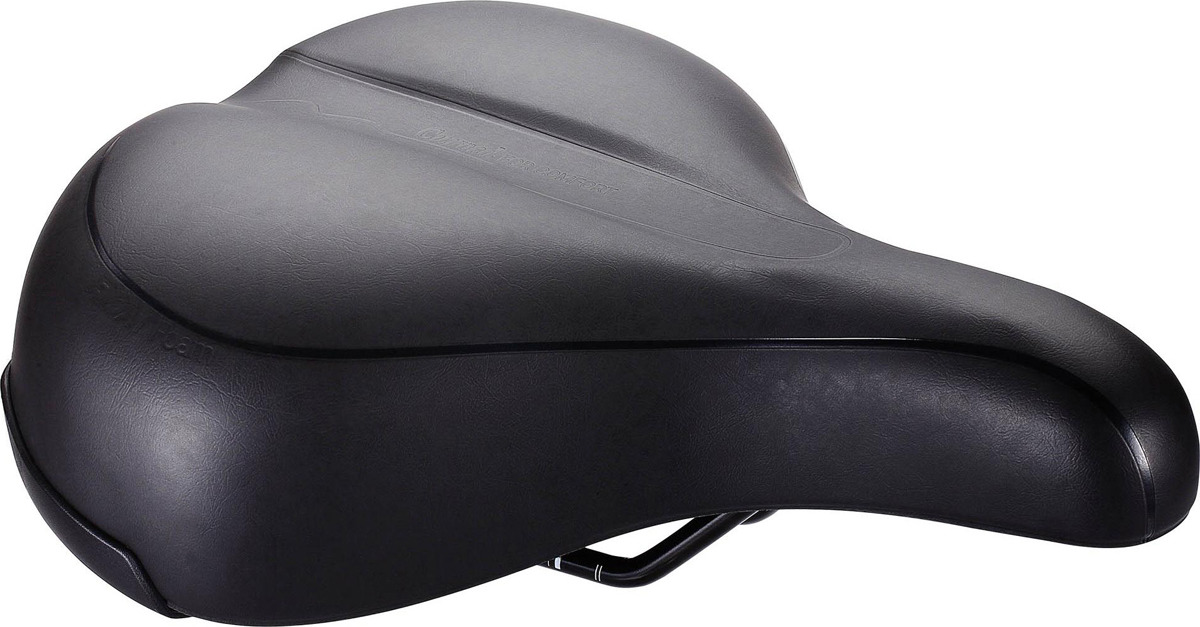 цена на Седло велосипедное BBB Meander Upright, черный, 22,5 х 27 см
