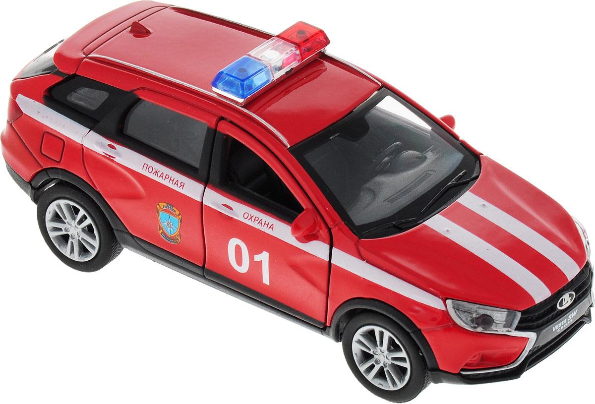 Welly Машинка LADA Vesta пожарная охрана