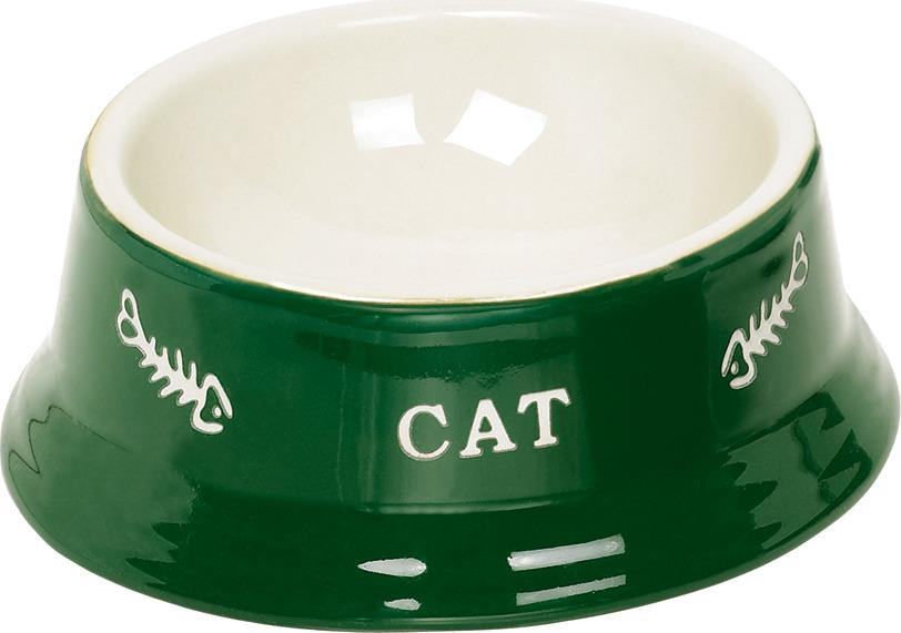 купить Миска для животных Nobby Cat, зеленый, 140 мл по цене 287 рублей
