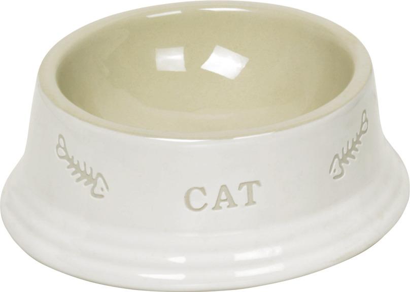 купить Миска для животных Nobby Cat, белый, 140 мл по цене 287 рублей