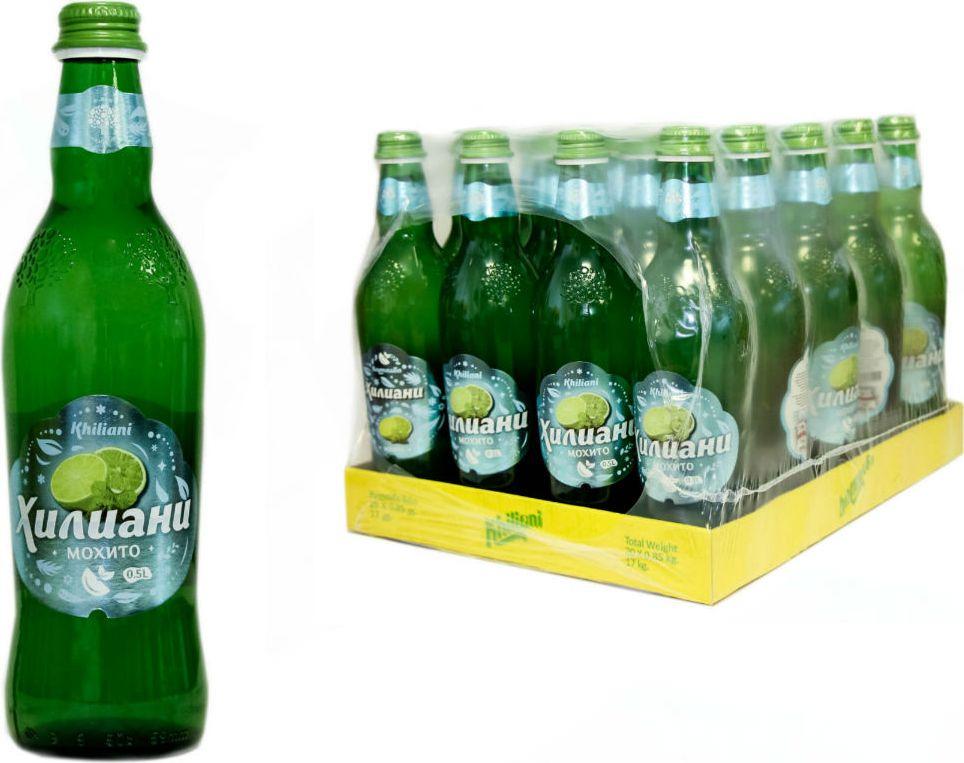 Лимонад Хилиани Мохито, сильногазированный, 20 шт по 0,5 л лимонад fruktomania мохито 12 шт по 0 5 л