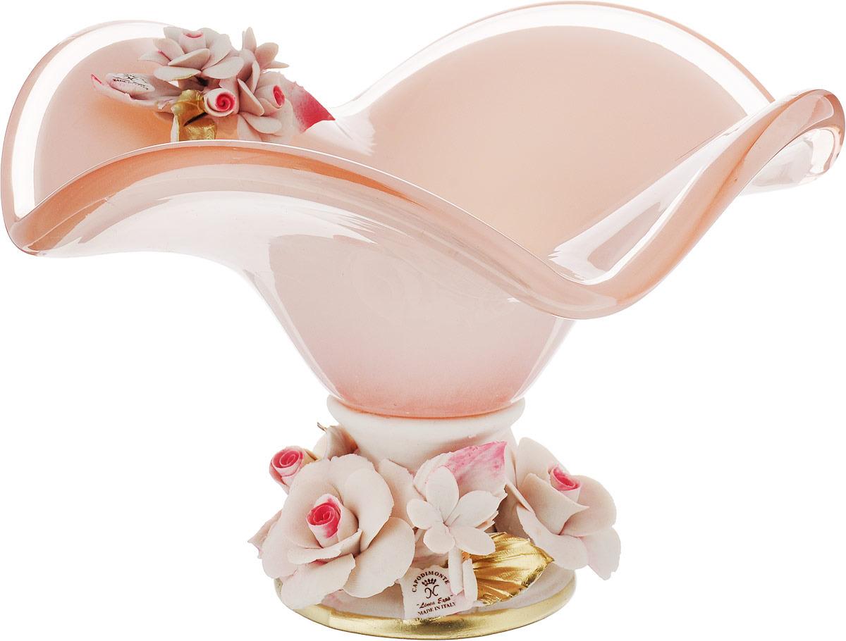 Декоративная чаша Lefard, 647-506, розовый, 23 х 24 х 16 см декоративная чаша lefard 647 645 зеленый 25 х 14 см
