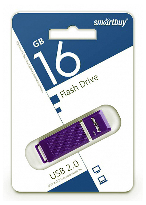 USB Флеш-накопитель SmartBuy QUARTZ 16GB, фиолетовый