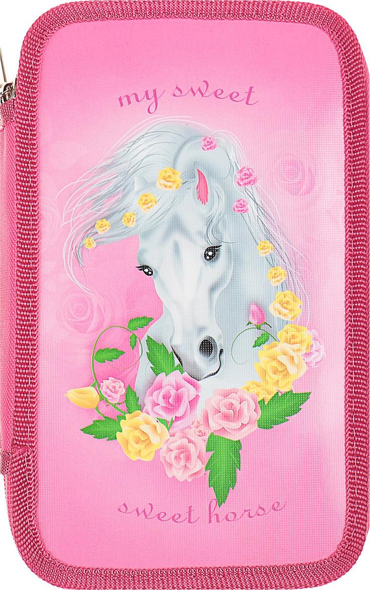 """Пенал Канцбург """"Прелестная лошадка"""", 4186182, мультиколор"""