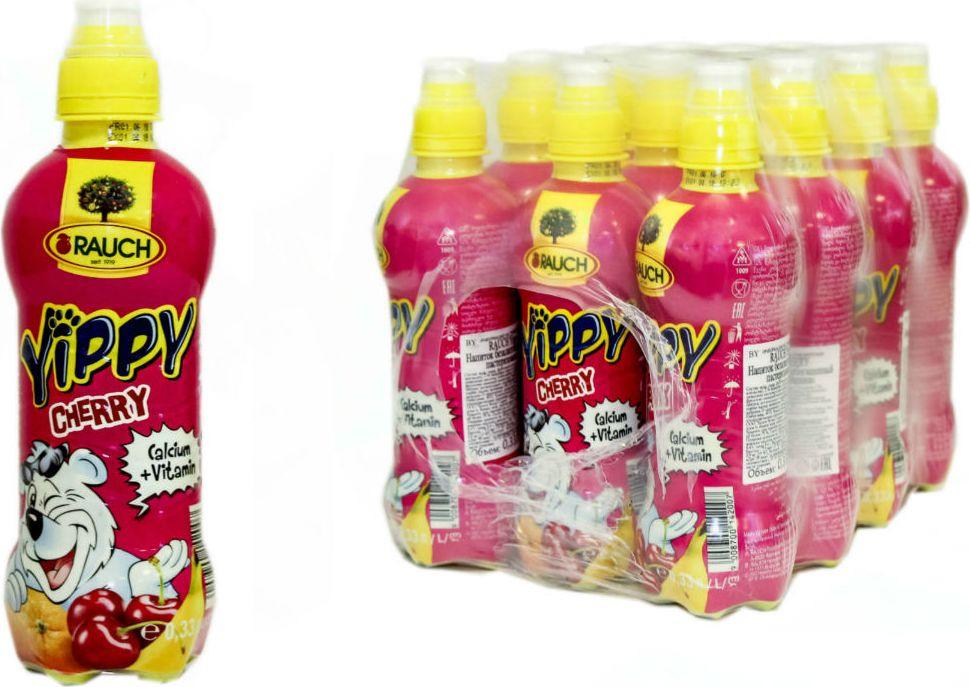 Напиток Rauch Yippy Вишня, 12 шт по 330 мл