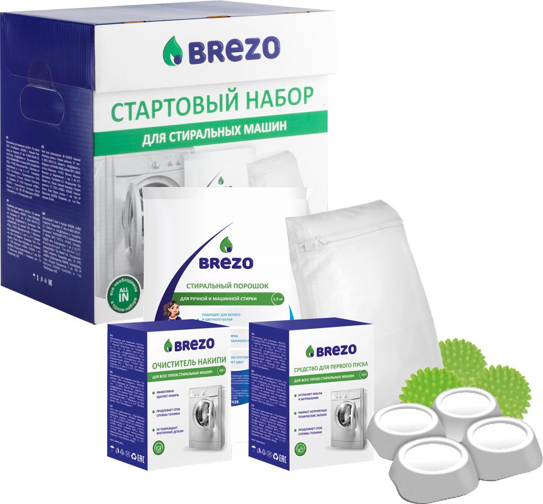 Стартовый набор для стиральной машины Brezo, 87933 kaffit com kft 01 средство для декальцинации 4 шт