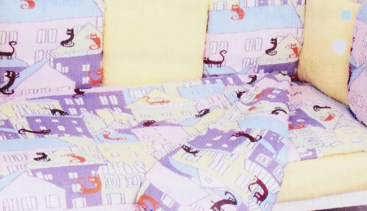 Комплект белья в кроватку AmaroBaby Сонное Царство Premium, фиолетовый, бязь, 19 предметов