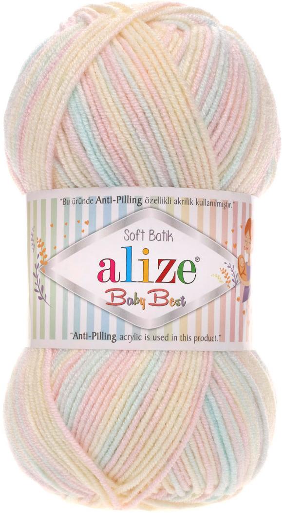 Пряжа Alize Baby Best Batik, 7722478, 6655 секционный, 100 г, 240 м, 5 шт